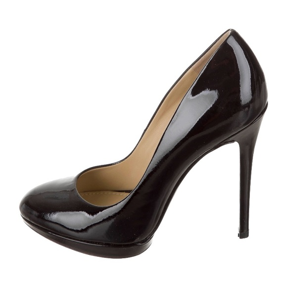 Brian Atwood Shoes - Brian Atwood Patent Leather Platform Pumps